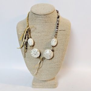 Lenora Dame Natural Stone Boho Style Necklace